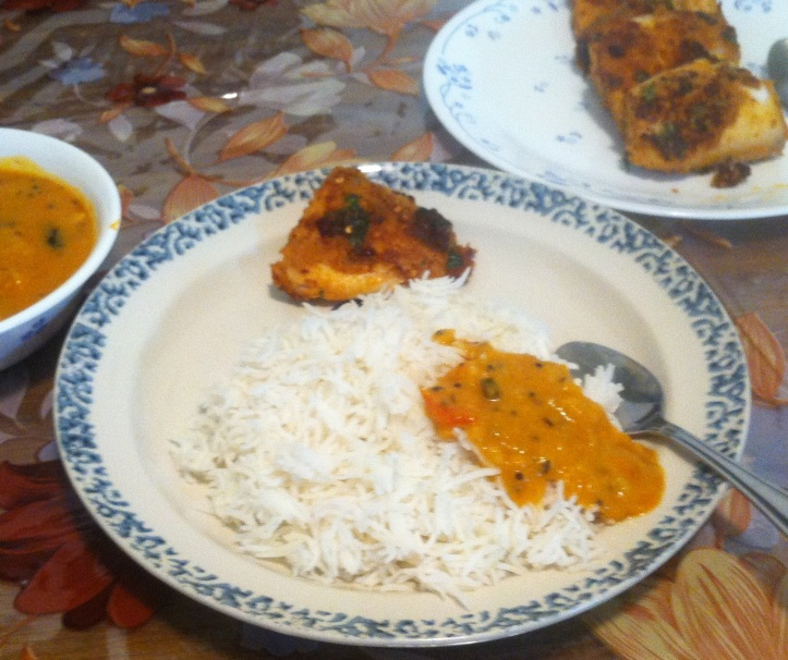 fish fry with rice