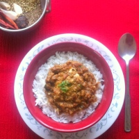 Goan Egg Drop Curry (Curried Poached Eggs with flavors from Goa)