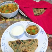 Flat-bread with Spinach Pesto (Palak Pesto Paratha)