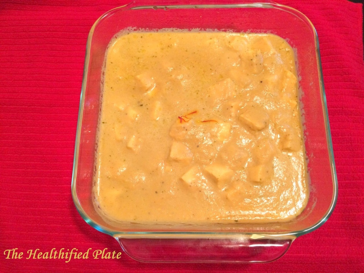 Cottage Cheese in Rich Saffron Gravy (Zafrani Shahi Paner)