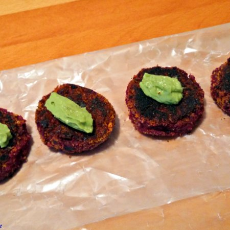 Beet and Sweet Potato Tikki