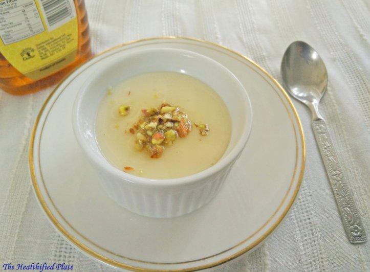 Yogurt Panna Cotta with Honey and Pista