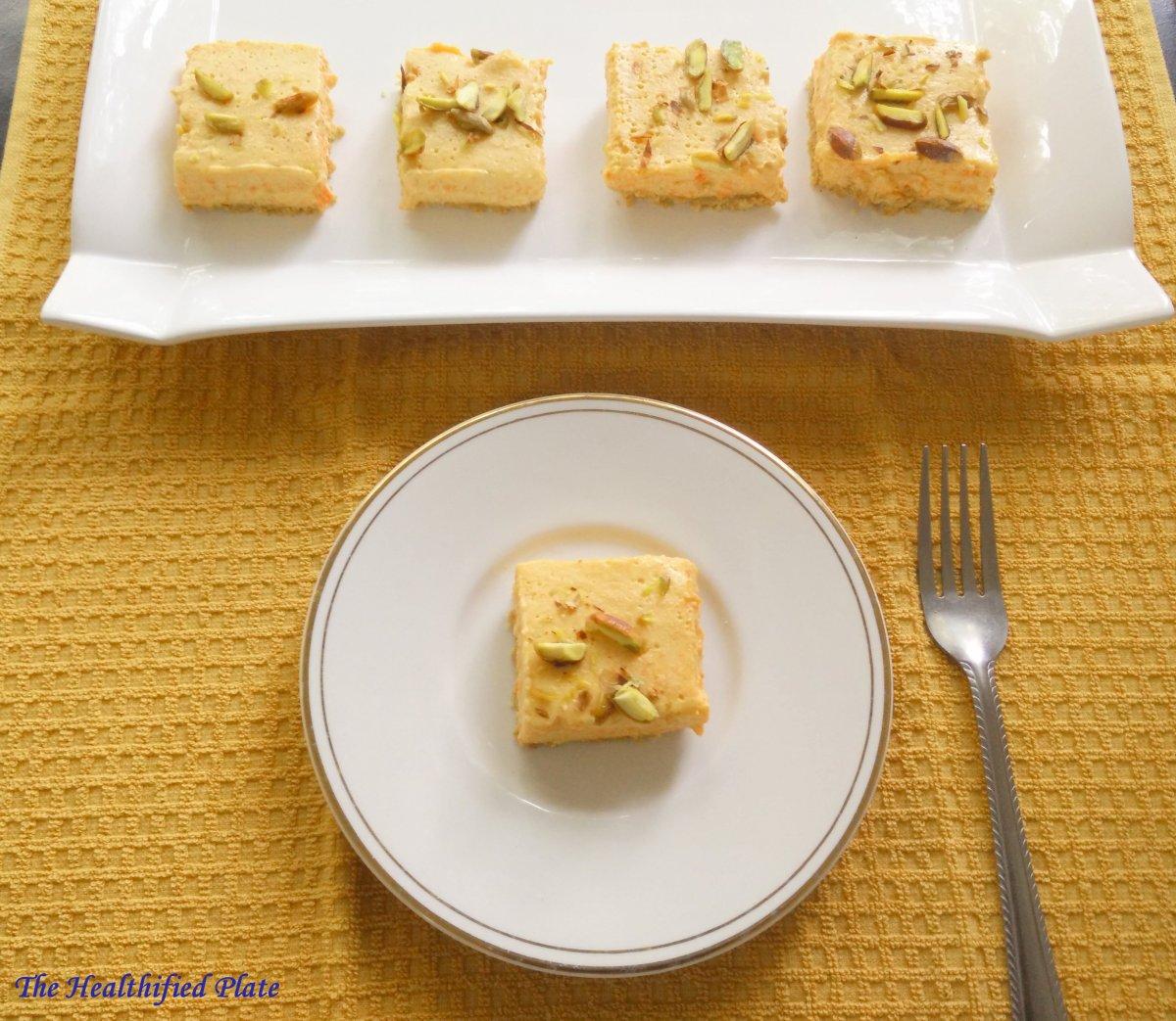 Carrot Halwa Cheesecake (No Bake, No Gelatin)