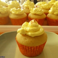 Saffron(Kesar) Cupcakes and Butter Cream Frosting {Egg-less}