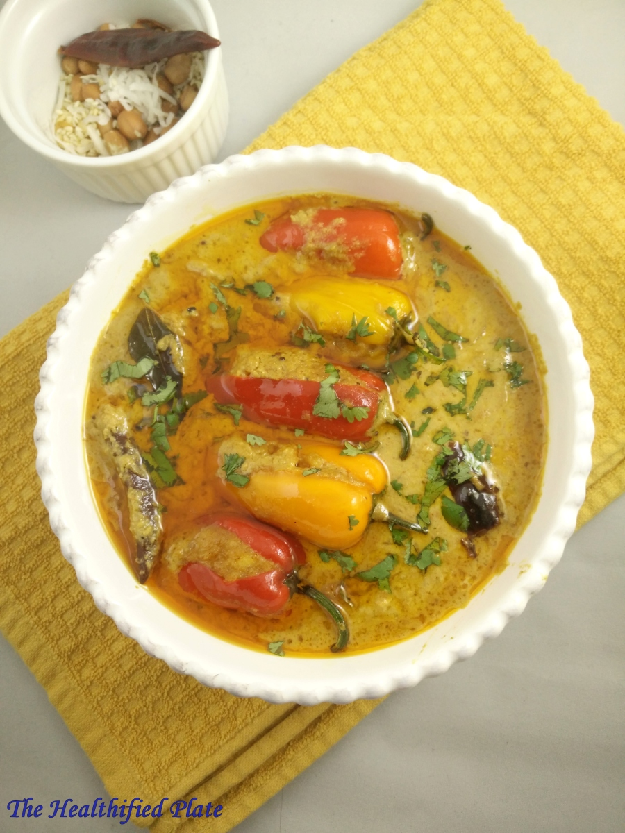 Bharwan Mirch Ka Salan (Spicy Curry with Stuffed Chili Peppers)