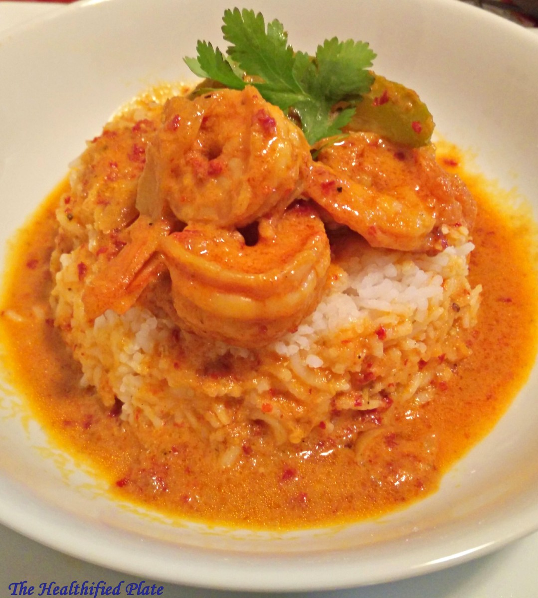 Indo-Thai Red Curry with Shrimp