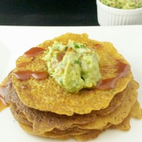 Savory Cucumber Pancakes with Guacamole