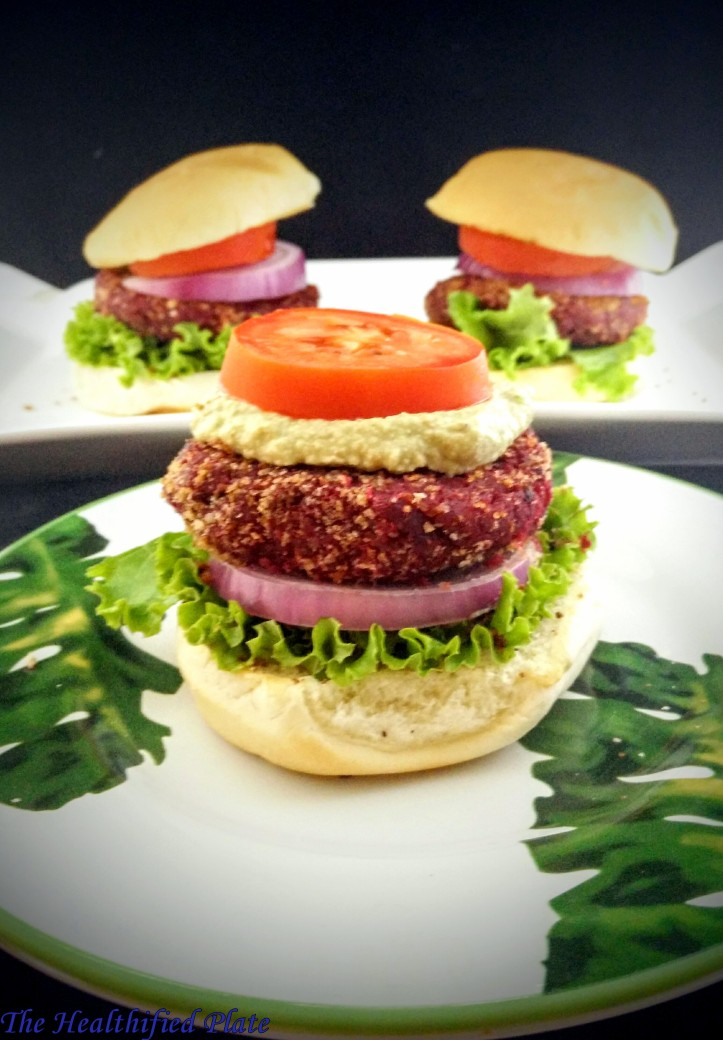 Beet, Sweet Potato and Quinoa Burgers