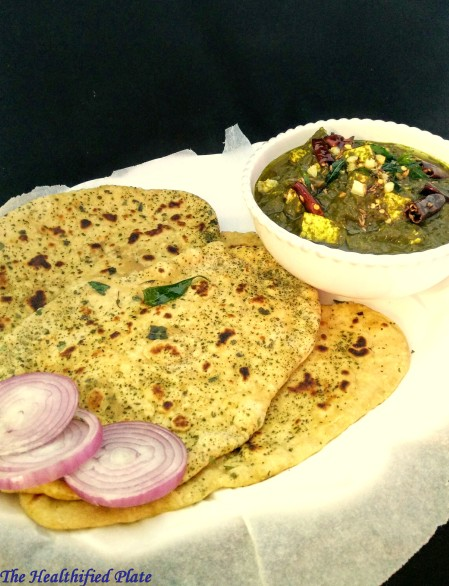 Whole Wheat Kulchas with Curry Leaf Flavor