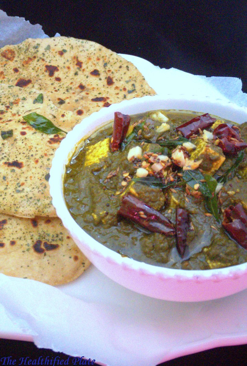Gongura Paneer (Cottage Cheese with Sorrel Leaves)