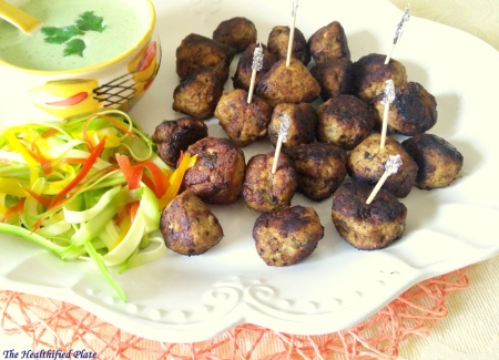Chicken and Veggie Kebab Meatballs