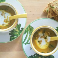 Butternut Squash Shorba with Paneer & Squash Kulcha